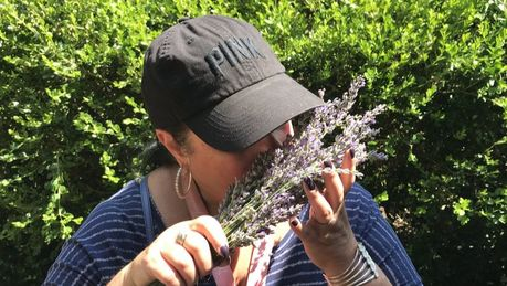 Picture of Client on a trip to Peace Valley Lavender Farm